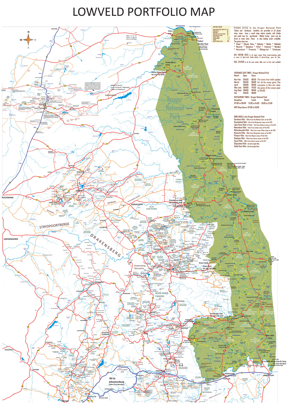 Lowveld Portfolio Map | Hoedspruit.net on