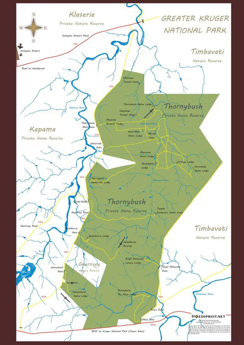 Thornybush Private Game Reserve Portfolio Map