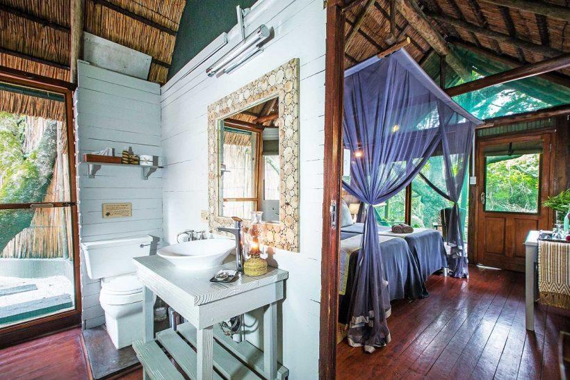 Kosi-Forest-Lodge-Indoor-Bathroom-into-Bedroom-set-as-twin
